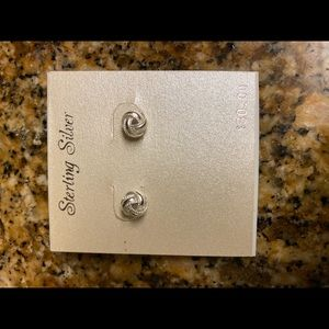 Sterling silver earrings, never worn